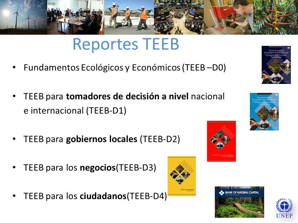 Reportes TEEB Fundamentos Ecológicos y Económicos (TEEB –D0)