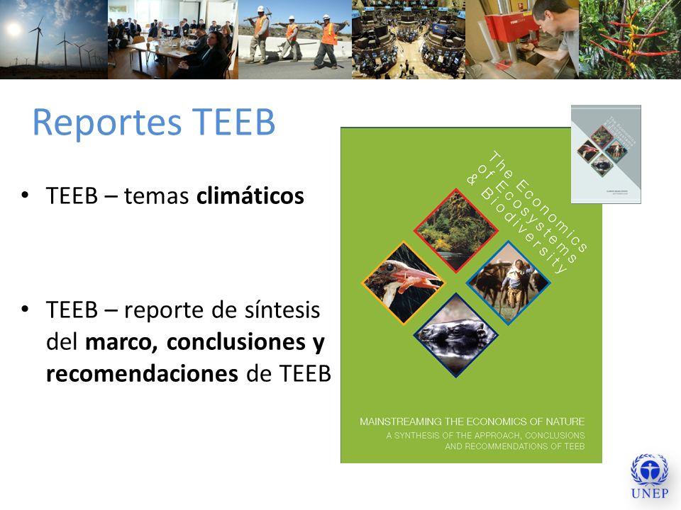 Reportes TEEB TEEB – temas climáticos