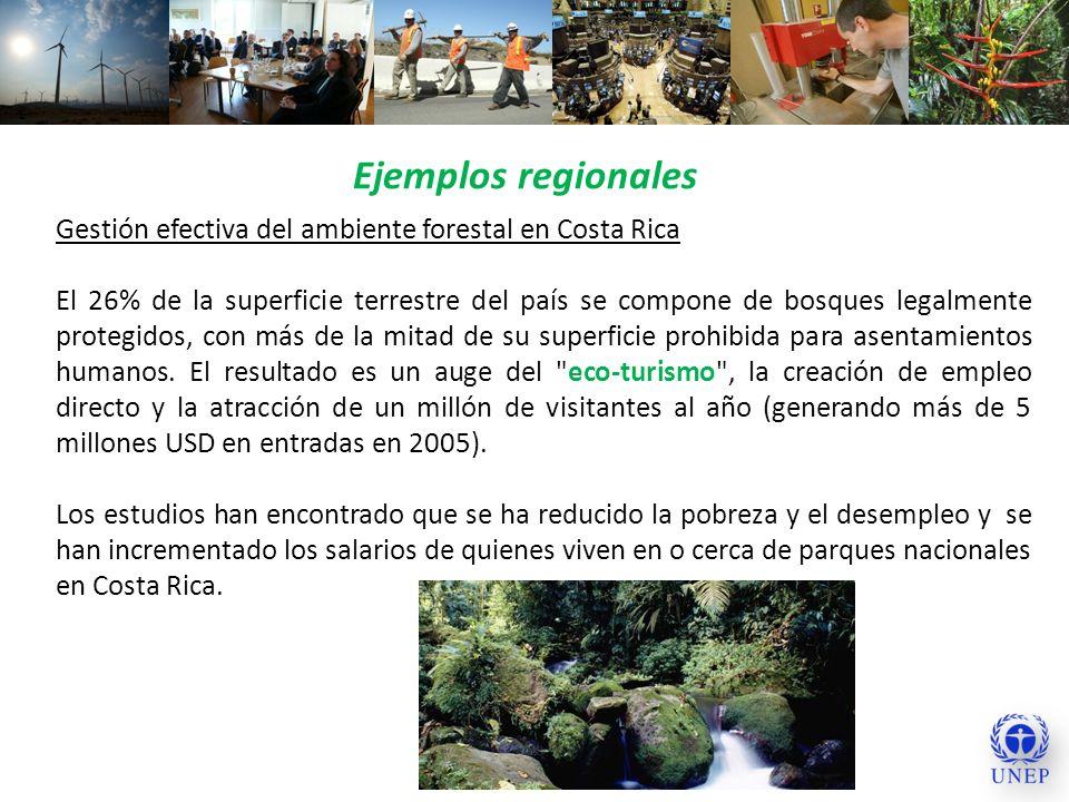 Ejemplos regionalesGestión efectiva del ambiente forestal en Costa Rica.