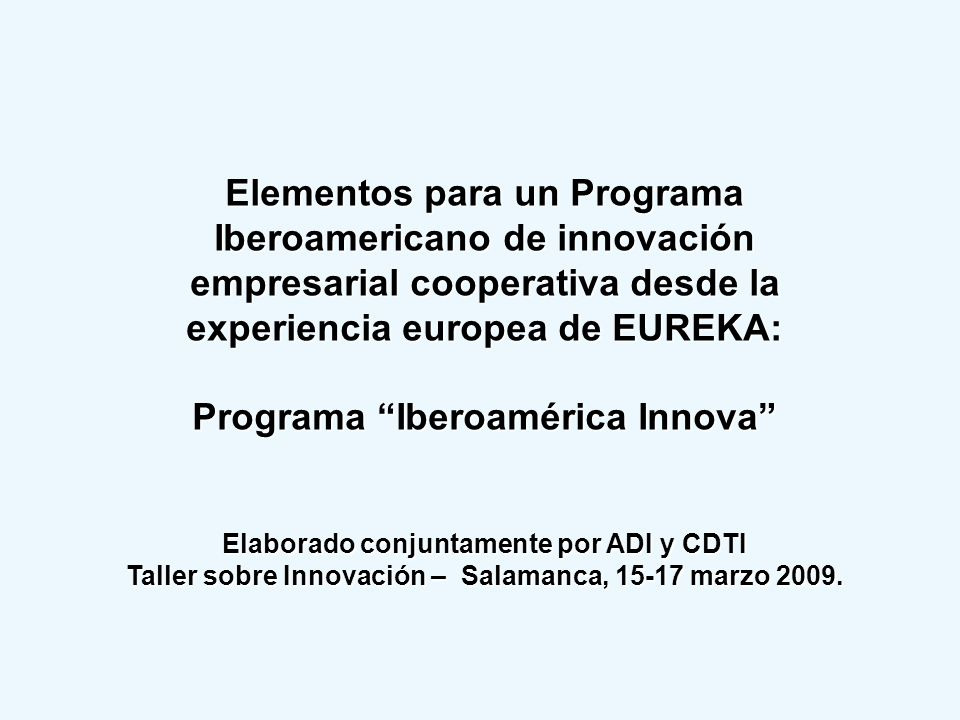 Programa Iberoamérica Innova