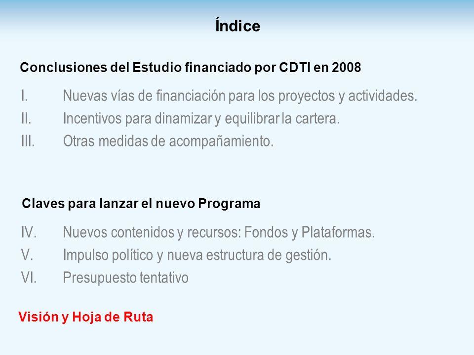 Nuevas vías de financiación para los proyectos y actividades.
