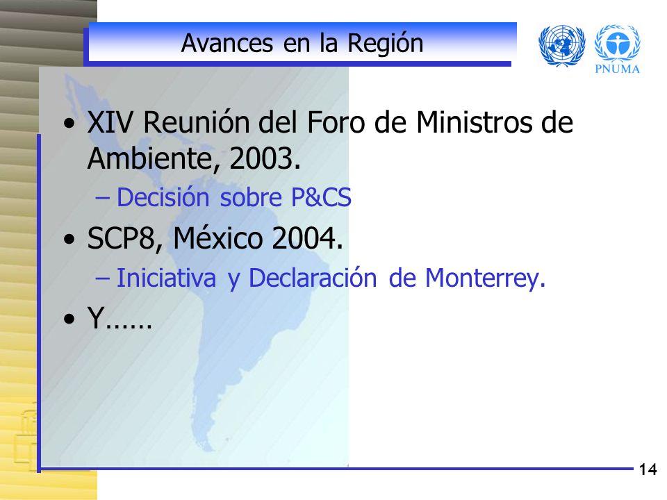XIV Reunión del Foro de Ministros de Ambiente, 2003.