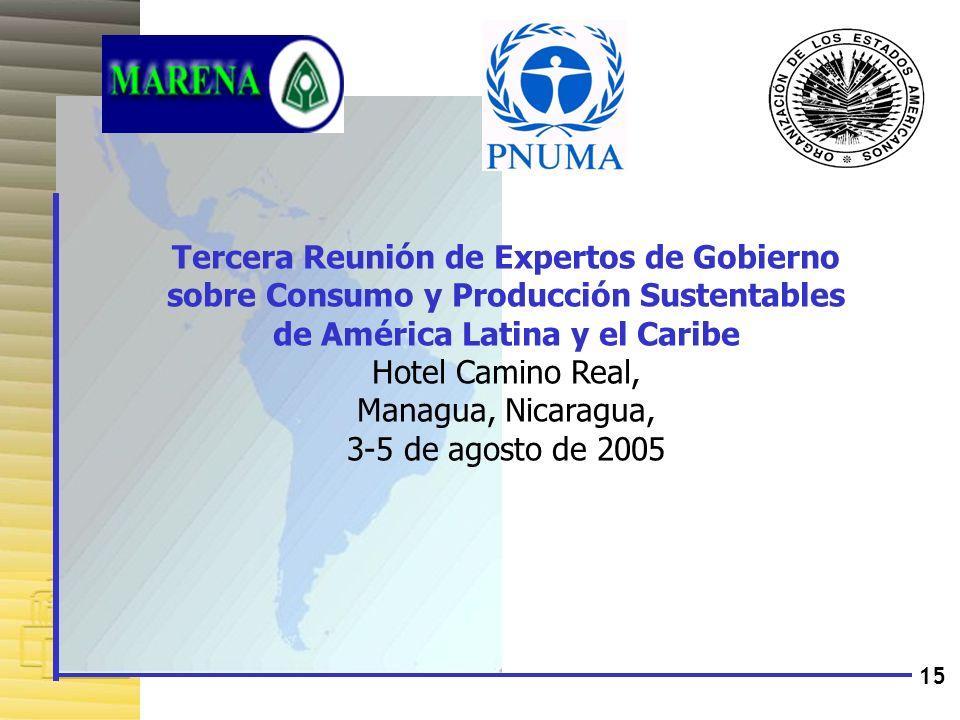 Tercera Reunión de Expertos de Gobierno sobre Consumo y Producción Sustentables de América Latina y el Caribe