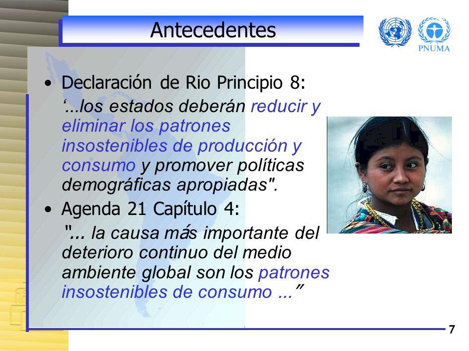 Antecedentes Declaración de Rio Principio 8: