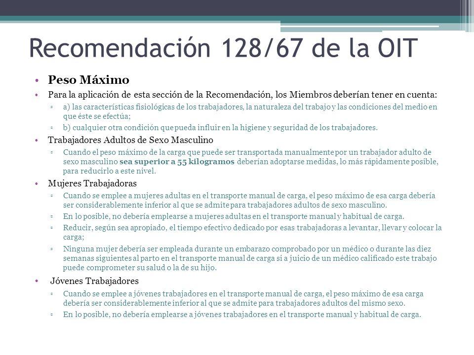Recomendación 128/67 de la OIT