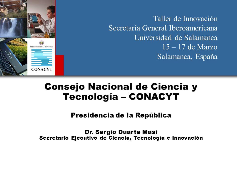 Consejo Nacional de Ciencia y Tecnología – CONACYT