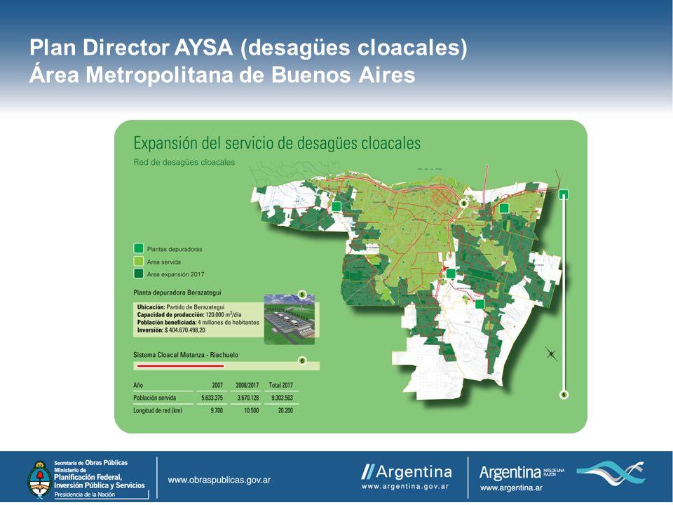 Plan Director AYSA (desagües cloacales)