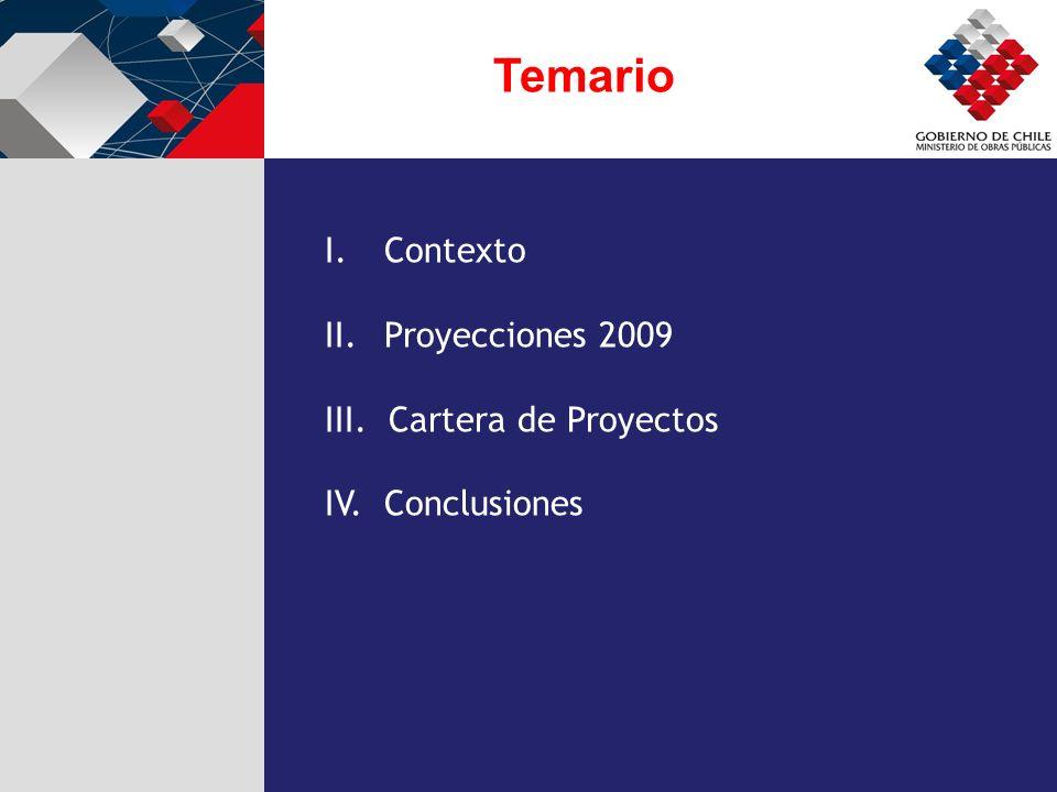 Temario Contexto Proyecciones 2009 III. Cartera de Proyectos