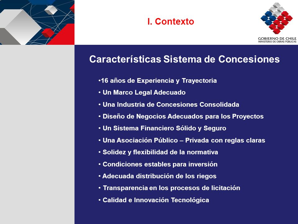 Características Sistema de Concesiones