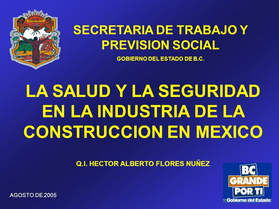 LA SALUD Y LA SEGURIDAD EN LA INDUSTRIA DE LA CONSTRUCCION EN MEXICO