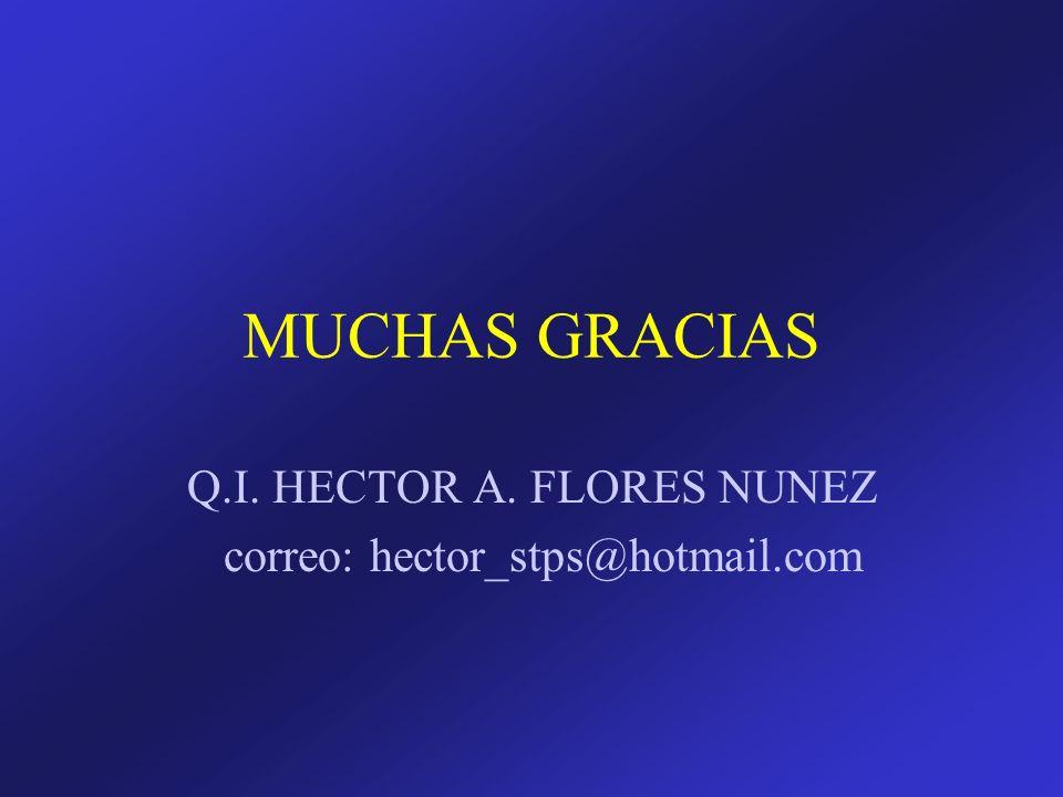 Q.I. HECTOR A. FLORES NUNEZ correo: hector_stps@hotmail.com
