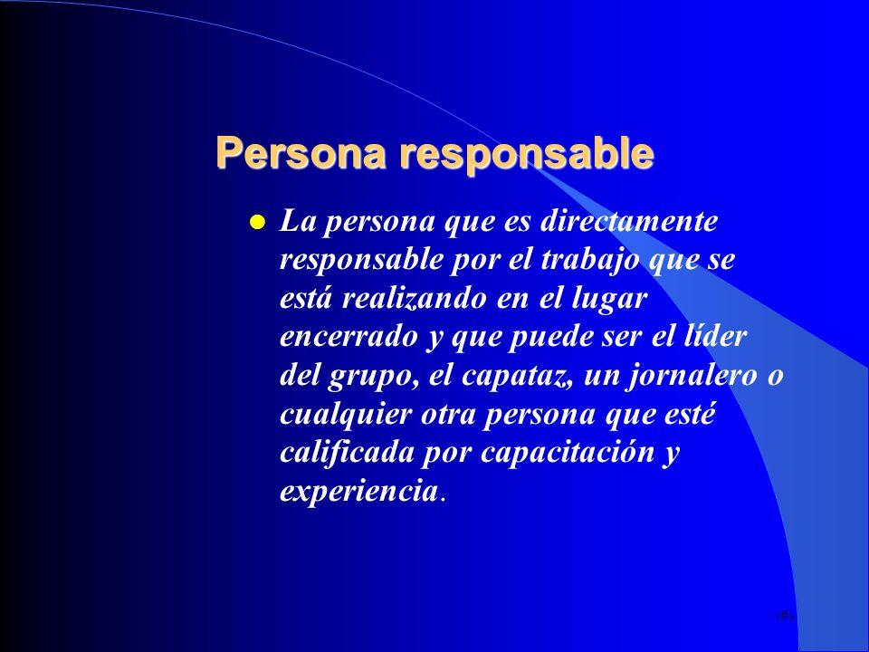 Persona responsable