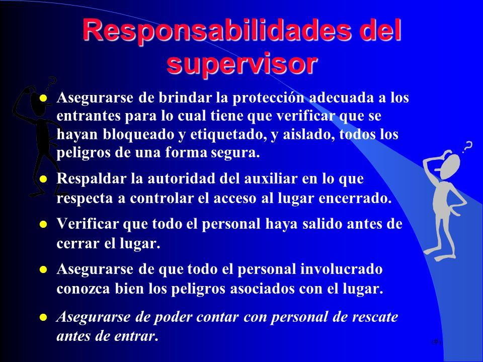 Responsabilidades del supervisor