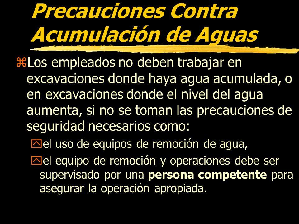 Precauciones Contra Acumulación de Aguas