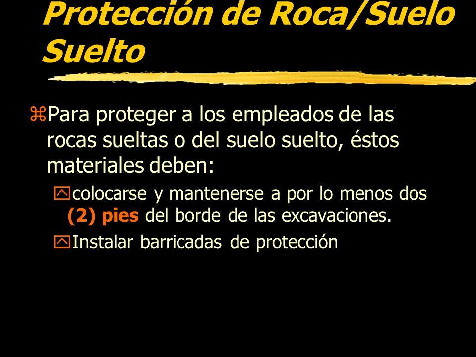 Protección de Roca/Suelo Suelto