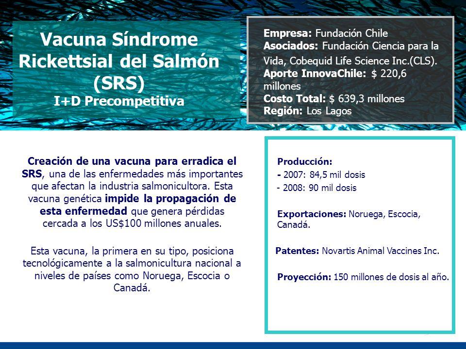 Vacuna Síndrome Rickettsial del Salmón (SRS) I+D Precompetitiva