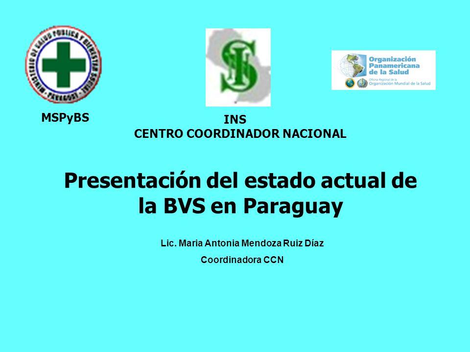 Presentación del estado actual de la BVS en Paraguay