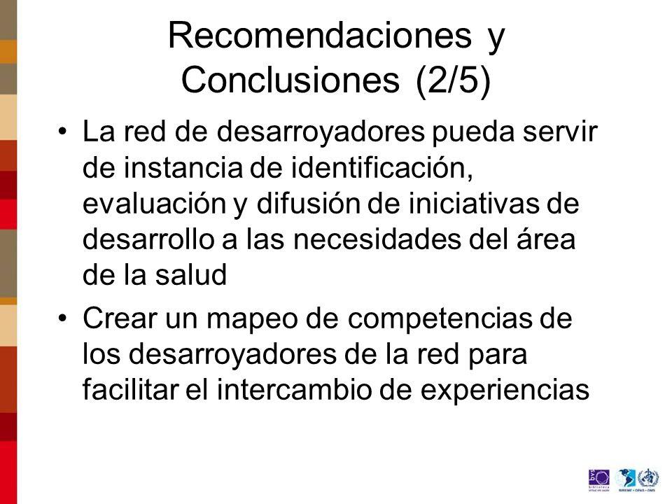 Recomendaciones y Conclusiones (2/5)