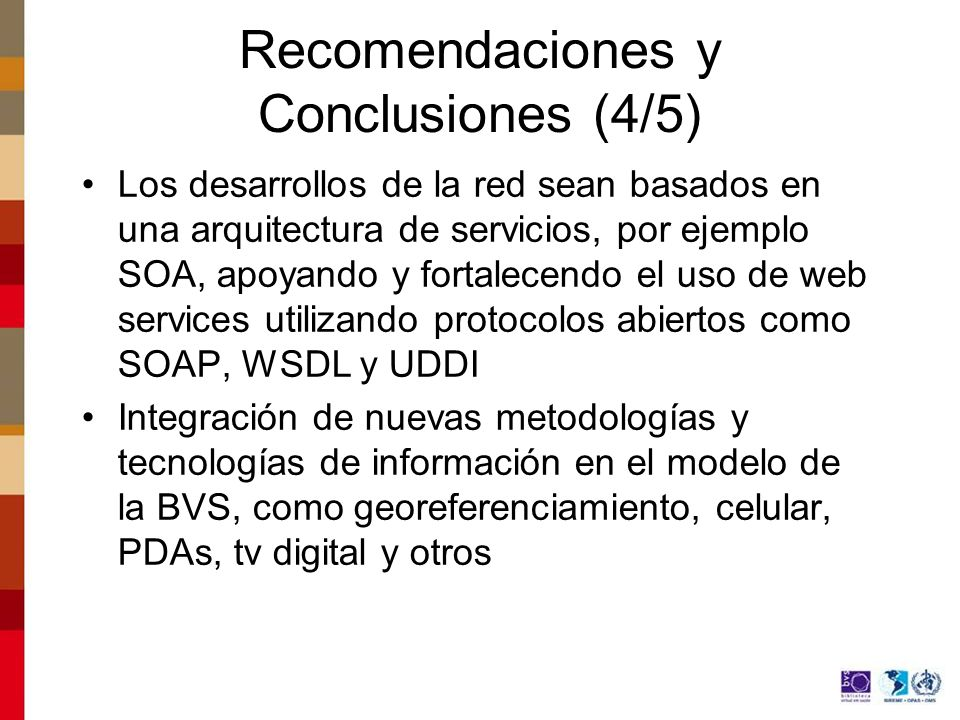 Recomendaciones y Conclusiones (4/5)