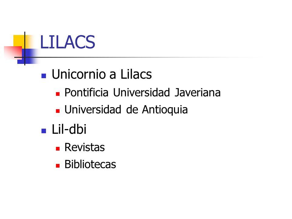 LILACS Unicornio a Lilacs Lil-dbi Pontificia Universidad Javeriana