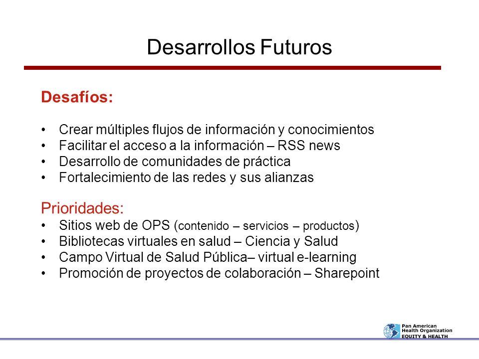 Desarrollos Futuros Desafíos: Prioridades: