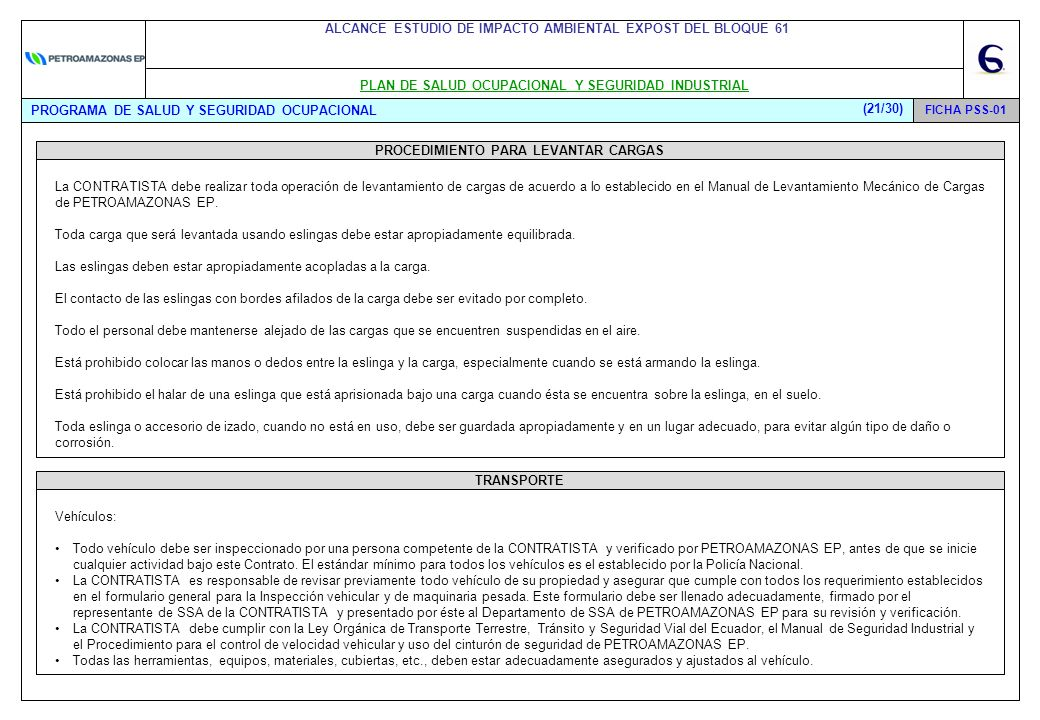 Alcance al estudio de impacto ambiental expost del bloque for He firmado acuerdo clausula suelo