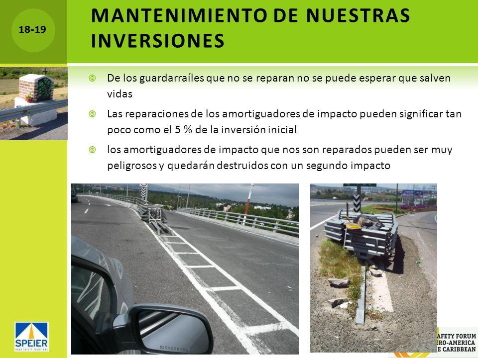 MANTENIMIENTO DE NUESTRAS INVERSIONES
