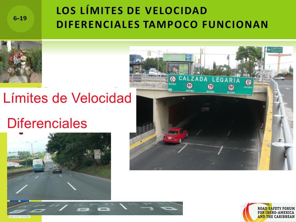 LOS LÍMITES DE VELOCIDAD DIFERENCIALES TAMPOCO FUNCIONAN