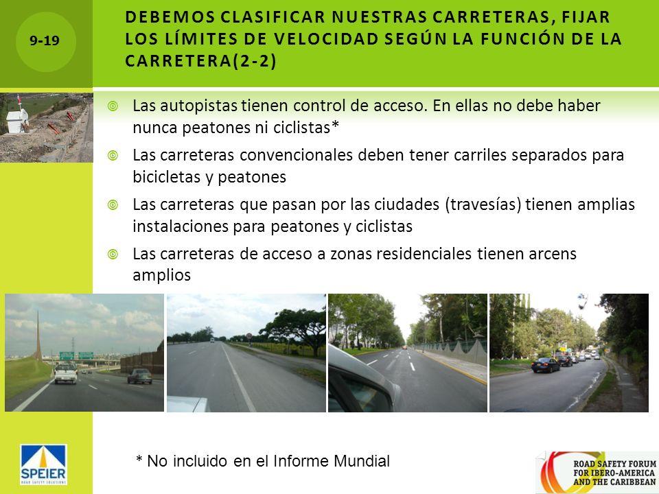 Las carreteras de acceso a zonas residenciales tienen arcens amplios