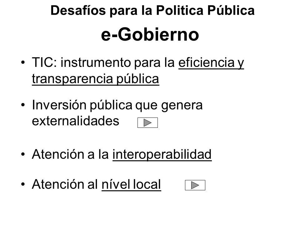 Desafíos para la Politica Pública