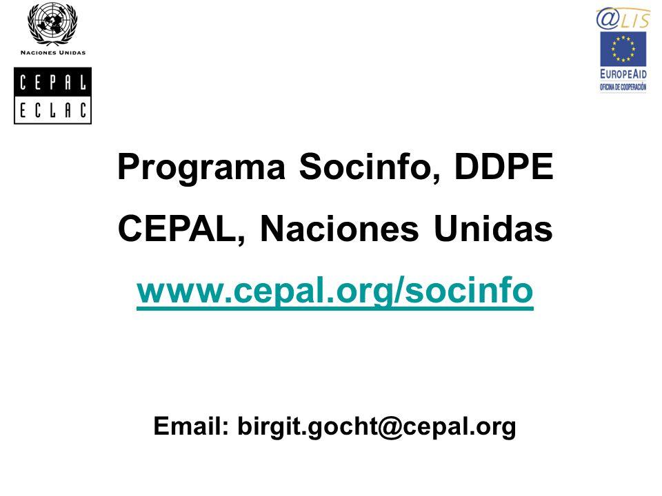 Email: birgit.gocht@cepal.org