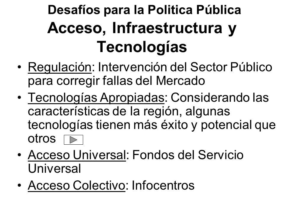 Acceso, Infraestructura y Tecnologías