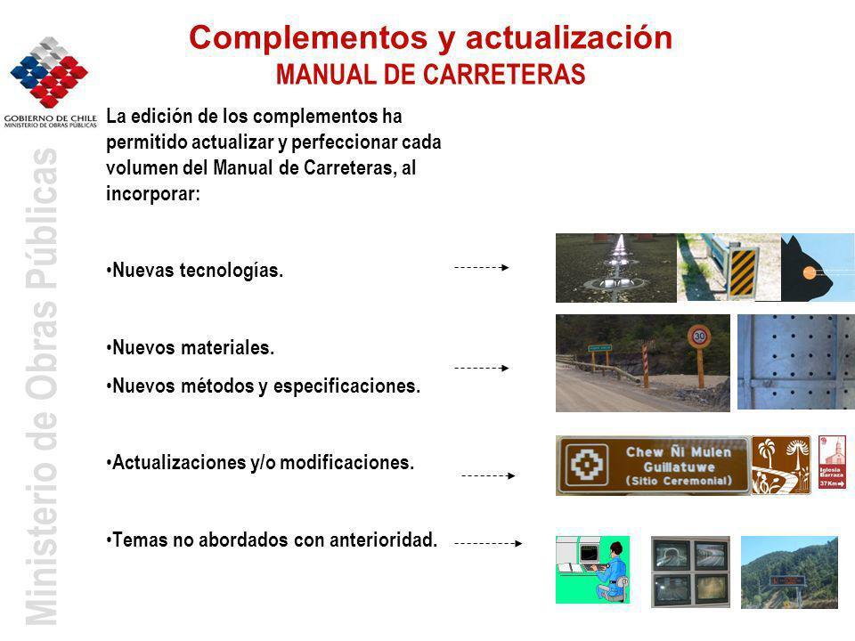 Complementos y actualización MANUAL DE CARRETERAS