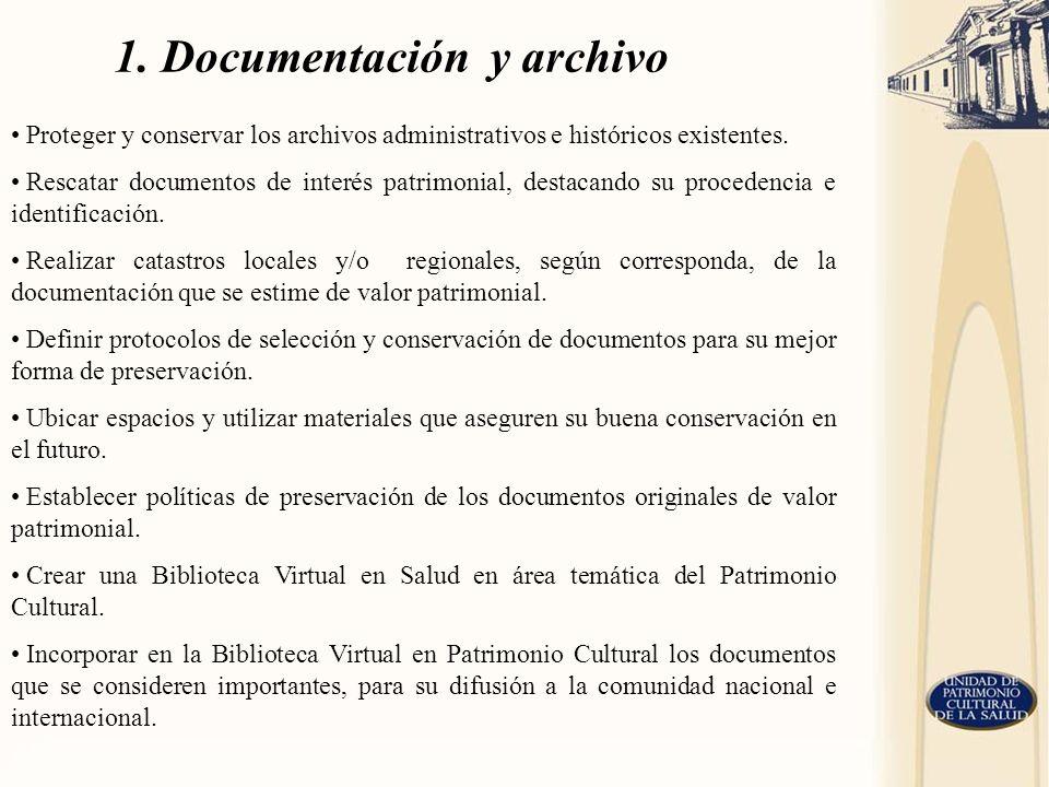 1. Documentación y archivo