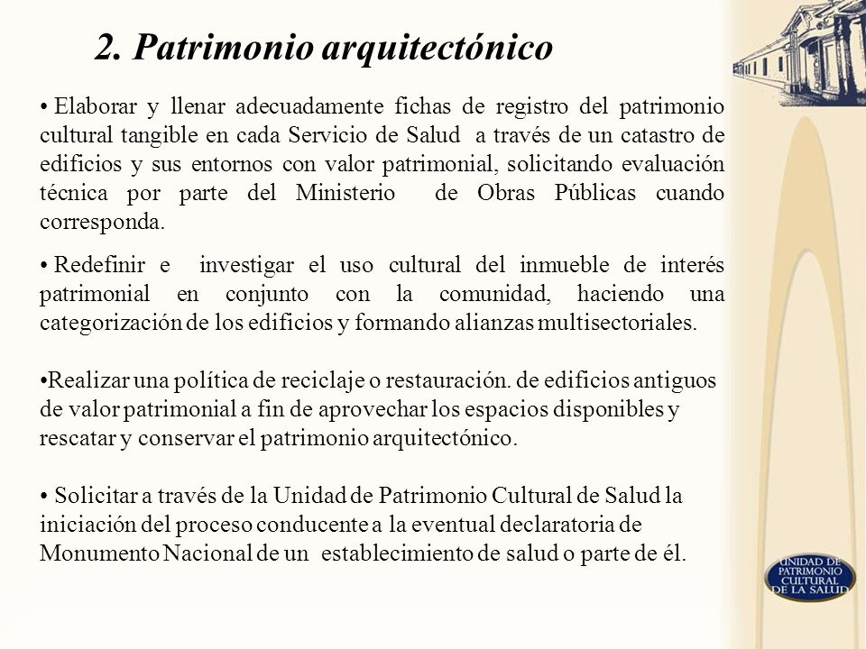 2. Patrimonio arquitectónico