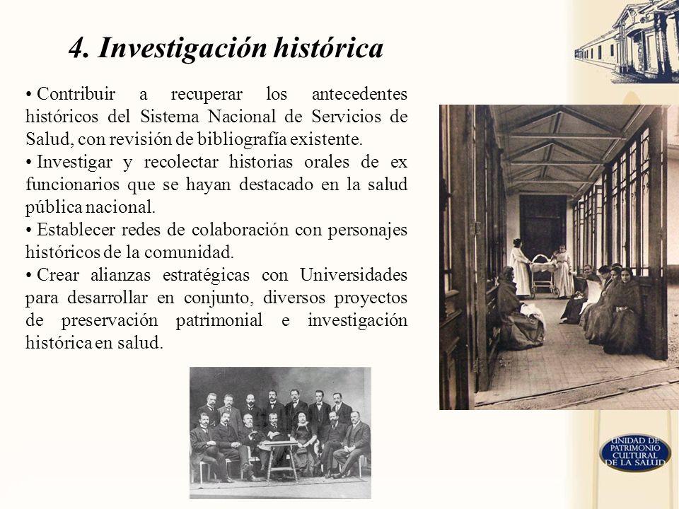 4. Investigación histórica