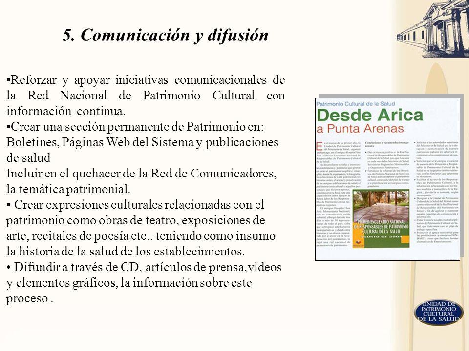 5. Comunicación y difusión