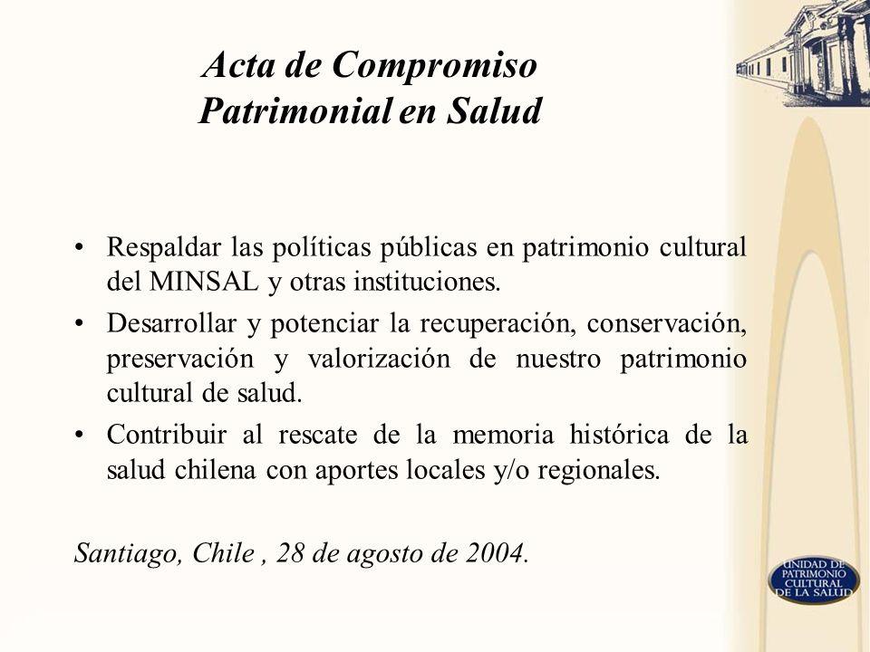 Acta de Compromiso Patrimonial en Salud