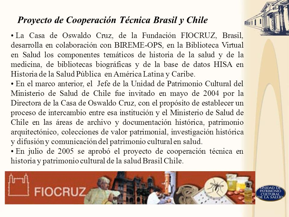 Proyecto de Cooperación Técnica Brasil y Chile
