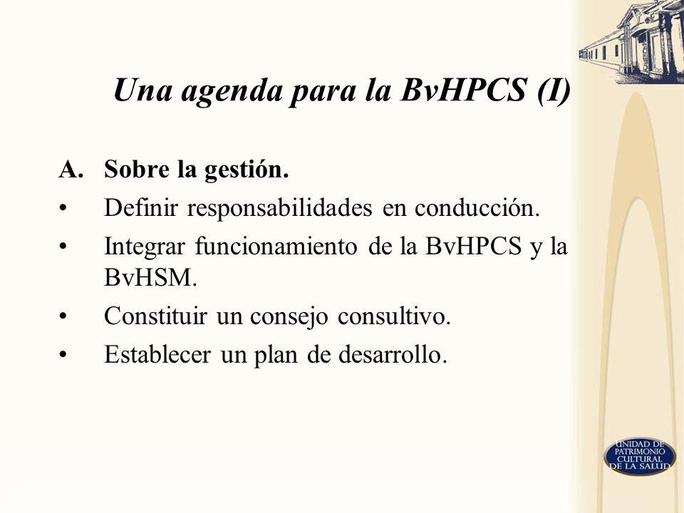 Una agenda para la BvHPCS (I)