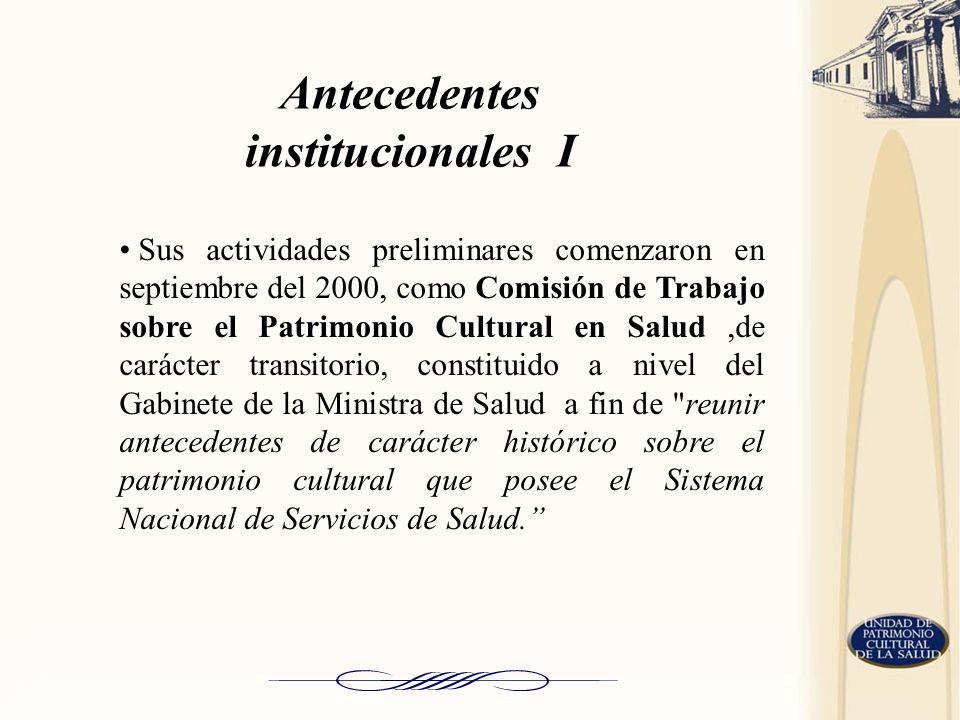 Antecedentes institucionales I
