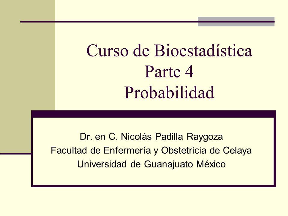 Curso de Bioestadística Parte 4 Probabilidad