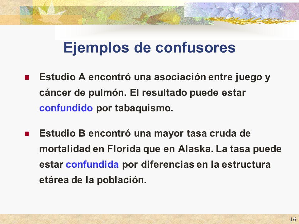 Ejemplos de confusores