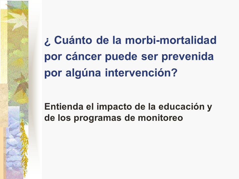Entienda el impacto de la educación y de los programas de monitoreo