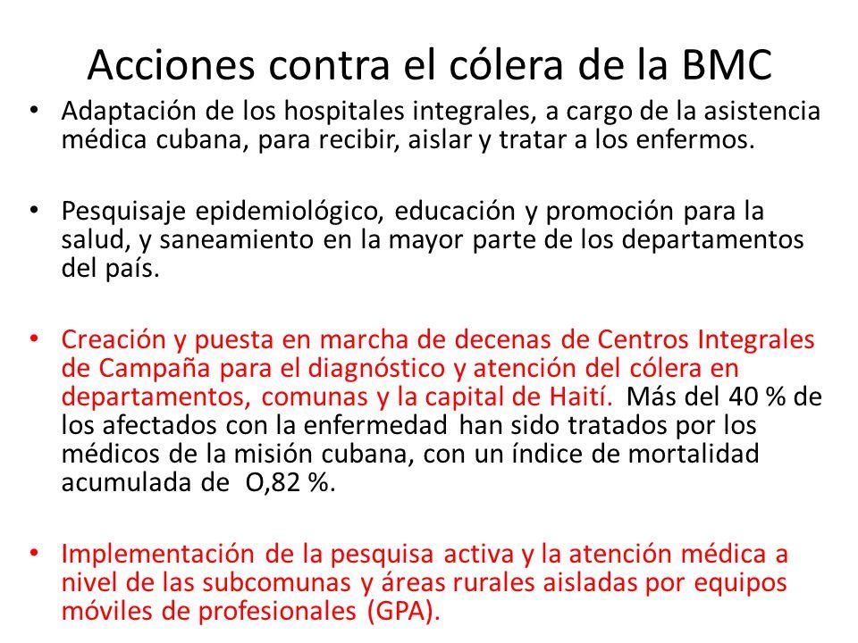 Acciones contra el cólera de la BMC