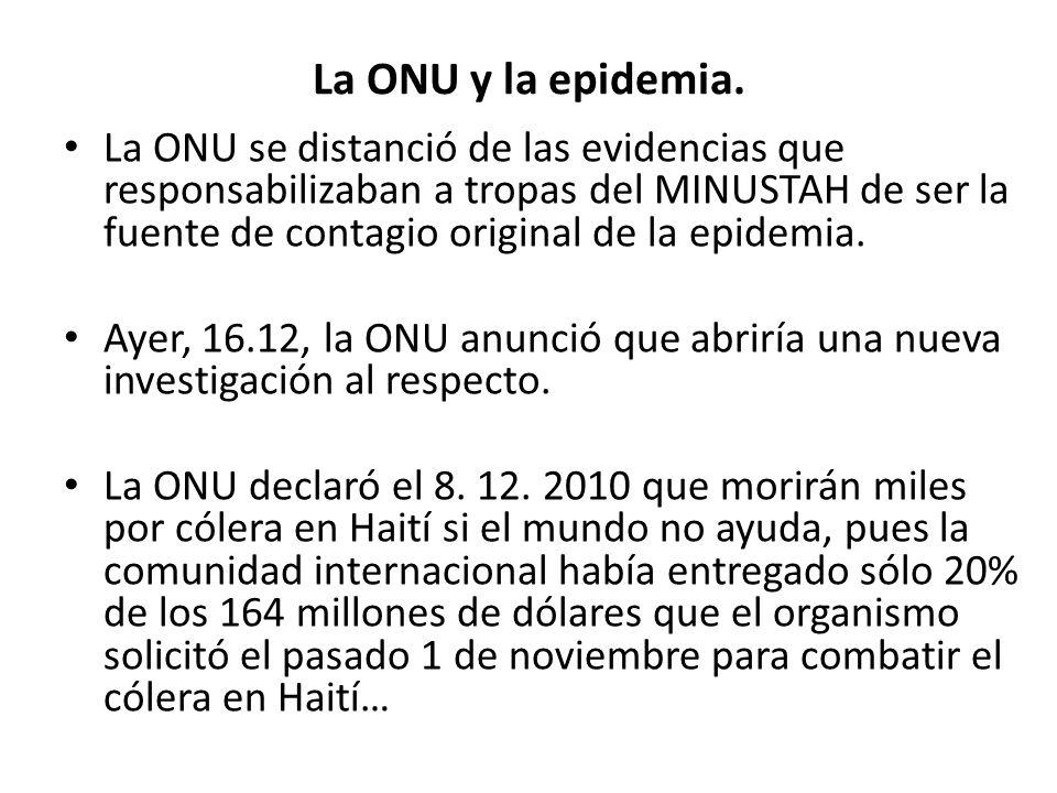 La ONU y la epidemia.