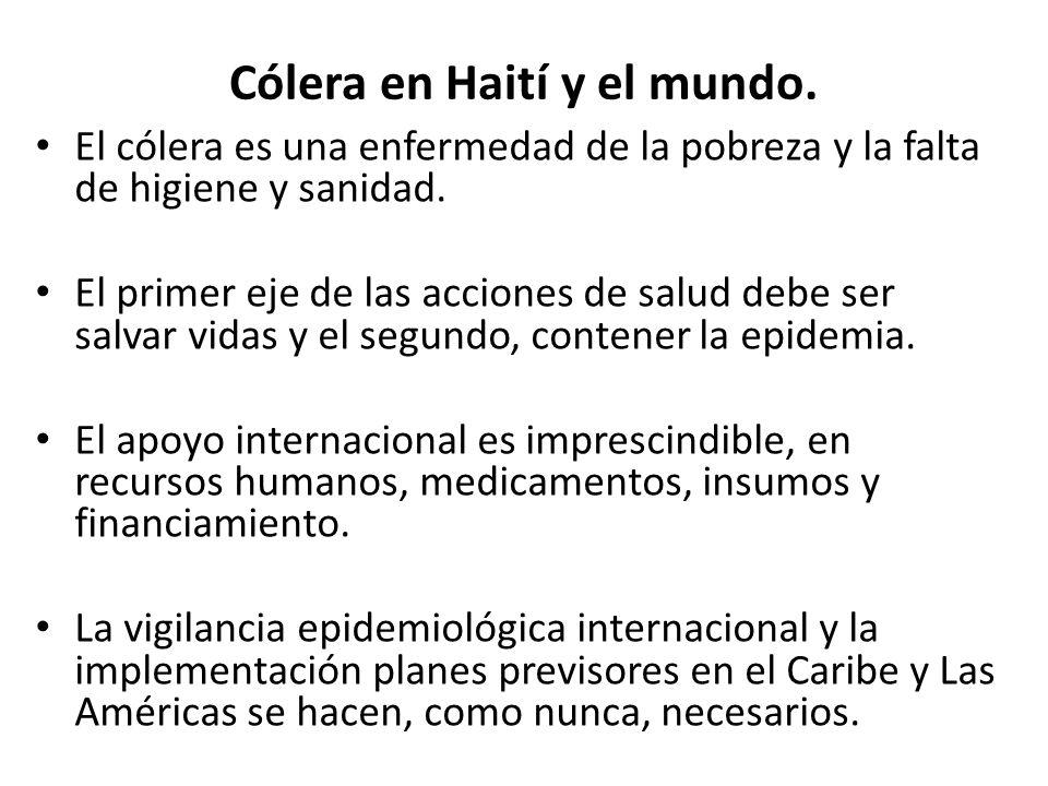 Cólera en Haití y el mundo.