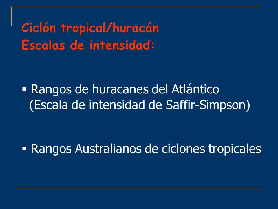 Ciclón tropical/huracán