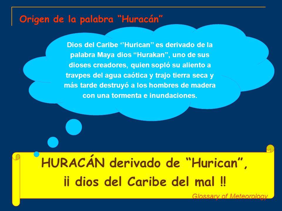 HURACÁN derivado de Hurican , ¡¡ dios del Caribe del mal !!
