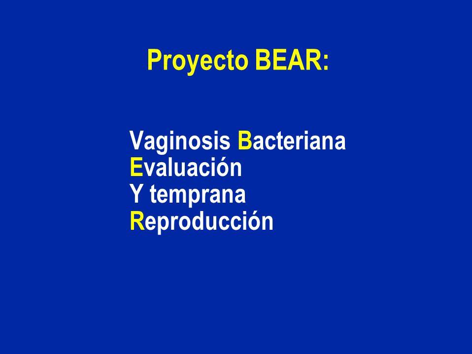 Vaginosis Bacteriana Evaluación Y temprana Reproducción
